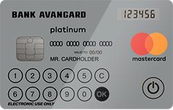 """Карта """"MasterCard Platinum с дисплеем"""""""