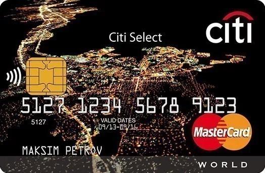 "Карта ""Citi Select Premium"""