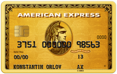 "Карта ""American Express Gold"""