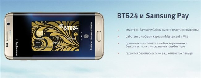 Samsung Pay и ВТБ24